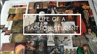 Designing, Moodboards, Exhibition, Fabric Sourcing And More! | Fashion Student Vlog