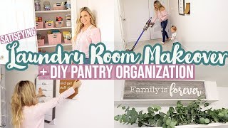 *NEW* PANTRY ORGANIZATION + LAUNDRY ROOM MAKEOVER // CLEAN WITH ME 2020// TIFFANI BEASTON HOMEMAKING
