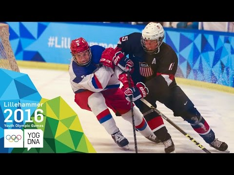 Ice Hockey - Men's Preliminaries - Russia vs USA | ​Lillehammer 2016 ​Youth Olympic Games​
