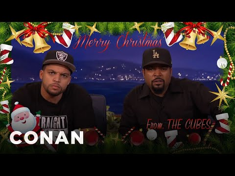 the ice cube family christmas card � conan on tbs king