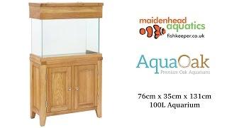 Aqua Oak 76cm 'Two Doors' Aquarium and Cabinet (AQ76D)