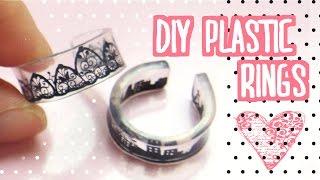 DIY Plastic Rings Tutorial   Shrink Dinks   プラバンでアクセサリー作ってみた