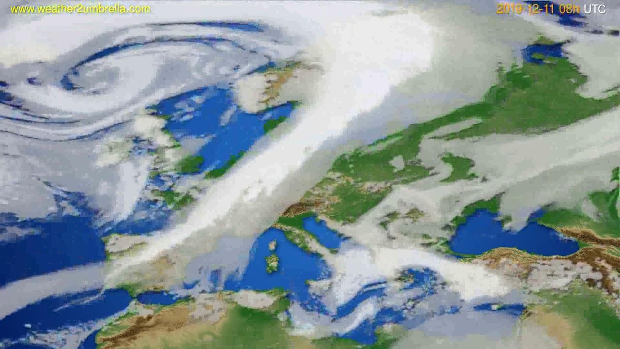 Cloud forecast Europe // modelrun: 12h UTC 2019-12-10