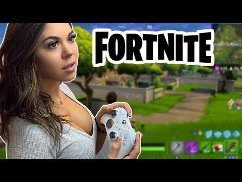 FORTNITE on NEW XBOX ONE X!!