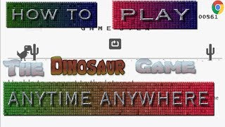 How to turn on or off the google dinosaur game on a Chromebook(Chromebook store attachment)