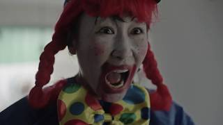 CLOWN!@*! Pepper is scaring the kids again.