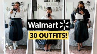 Plus Size Winter Walmart Haul and Plus Size Capsule Wardrobe