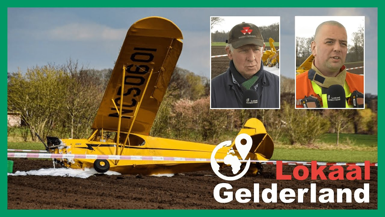 Boer ziet vliegtuig neerstorten in akker Epse