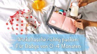 Wickeltasche richtig packen: Was Du dabei haben solltest für Babys von 0-4 Monaten
