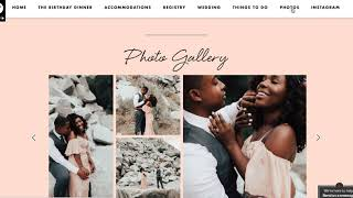 Riley & Grey- Creating Our Wedding Website