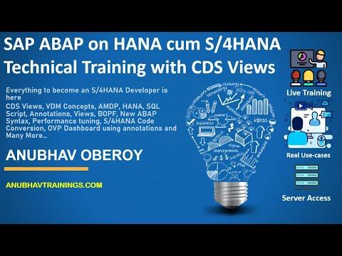 S4 HANA Developer Course | S4HANA Technical Training | ABAP ...