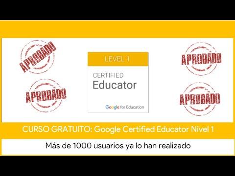 Curso GRATUITO Google Certified Educator Nivel 1 - YouTube