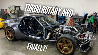 First Time a Turbo 4 Rotor has powered 4 Wheels!! AWD Test Passed!