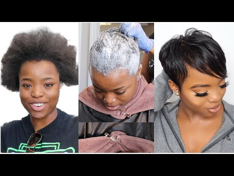 RELAXING MY NATURAL HAIR AFTER 2 YEARS + PIXIE CUT || HAIR TRANSFORMATION TUTORIAL