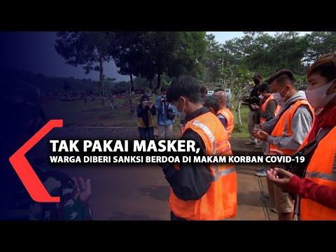 tak pakai masker sanksi berdoa di makam korban covid-