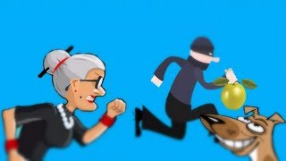 ДОГОНИ ВОРИШКУ #2 Бабушка в погоне за вором веселое яркое видео для детей игра Granny Smith
