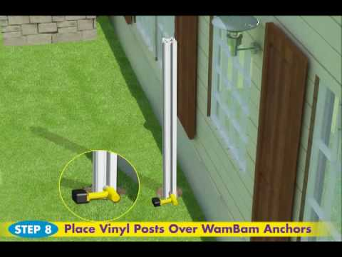 Technical Demo of No-Dig Vinyl Fence Installation