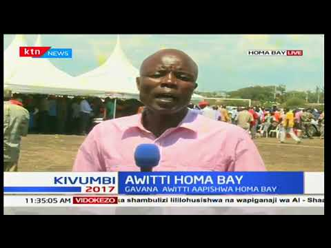 Uapisho wa Magavana : Cyprian Awitti kuapishwa Homa Bay Kaunti