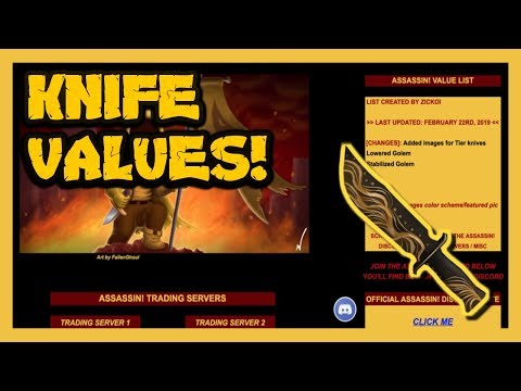 Roblox Assassin Value List (How Rare Are Your Exotics?) Complete