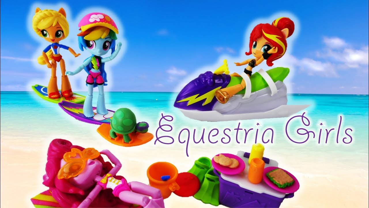 My Little Pony Equestria Girls Rainbow Dash Sporty Beach Set and Pop A Lotz Surprize Pops