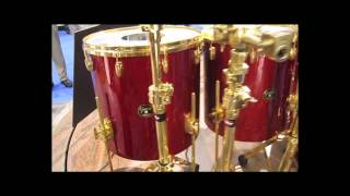 Close-Up look at Foo Fighters Taylor Hawkins Gretsch USA Red Drum Kit