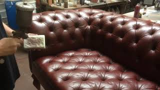 Leather Chesterfield Sofa Restoration