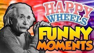 I'M EINSTEIN!!! || Happy Wheels Funny Moments #1