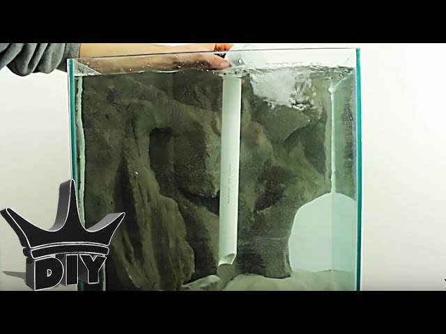 HOW TO: Build an underwater waterfall sandfall for a fish tank