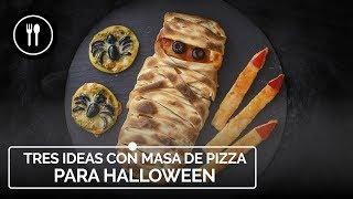 Tres ideas para HALLOWEEN con MASA DE PIZZA | Fáciles y rápidas