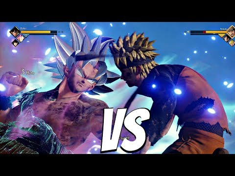 JUMP FORCE - Goku Ultra Instinct vs Naruto 1vs1 Gameplay