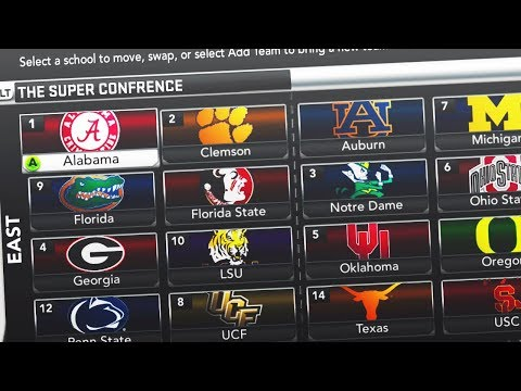 What if College Football had one GIANT Super Conference?