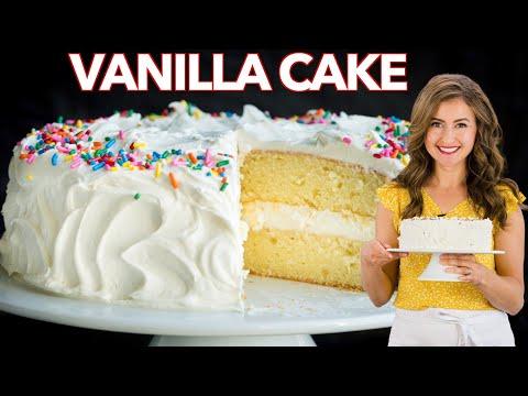 The Best VANILLA CAKE I've Ever Made + VANILLA BUTTERCREAM