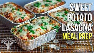 Budget Sweet Potato Lasagna Meal Prep / Lasaña Economica de Batata y Pavo