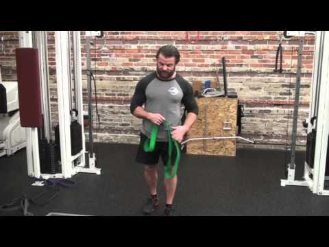 Resistance Band Deadlift.