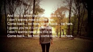 Taylor Swift - Come Back...Be Here Lyrics