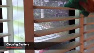 How To Clean Plantation Shutters with Micro Fibre Cloth