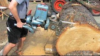 2. Holz- und Feldtag Niederböhmersdorf - 2/5 - die Holzbearbeitung - Kettensägen / Chainsaw