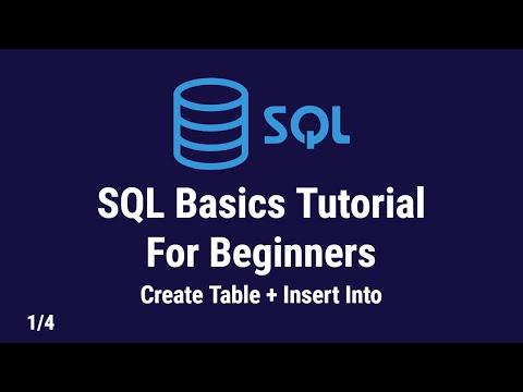 SQL Basics Tutorial For Beginners | Installing SQL Server Management Studio and Create Tables | 1/4