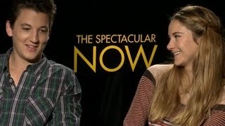 Shailene Woodley and Miles Teller Talk The Spectacular Now and Relationships - Cute Interview!