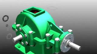 Autodesk Inventor 11 Bevel Gear Transmission Box) 3D