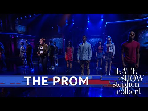 I performed on The Late Show with Stephen Colbert along with the cast of The Prom.