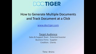 Document Tracking-Tutorial
