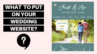 WHAT TO PUT ON YOUR WEDDING WEBSITE? Keep guests in the loop #VLOGMAS