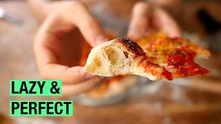 #11 No-Knead Homemade Pizza Dough ! by Alex French Guy Cooking