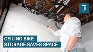 Space-Saving Bike Rack Attaches To Your Ceiling