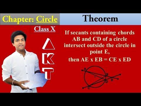 CIRCLE Chapter | Class X | Part 14| THEOREM: