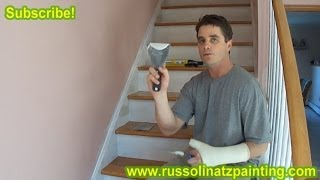 DIY Refinish & Paint Hardwood Stairs That Were Carpeted Stained Varnished Part 3