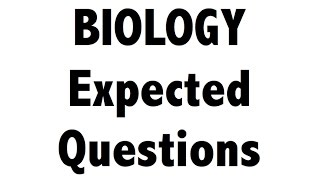 Expected Biology / science MCQ questions for SSC CGL / RAILWAYS