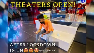 THEATERS OPEN AFTER LOCKDOWN🤩 | INOX_PROZONE_COIMBATORE | SHREE VLOGS #Theaters_after_lockdown #INOX