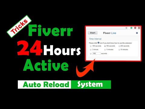 Fiverr Auto Reload In Google Chrome | Amazing Tricks | 24 Hour Active